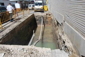 Obras contenedores soterrados C/ Fernando Portillo