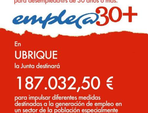 Plan de empleo para mayores de 30 años en Ubrique