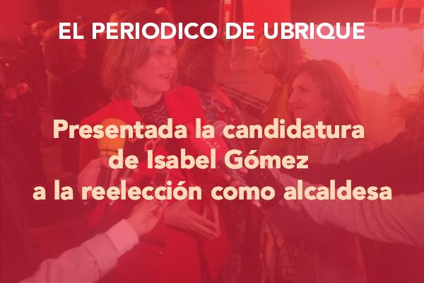El Periodico de Ubrique_Presentada la candidatura de Isabel Gomez a la reelección como alcaldesa